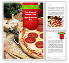 Food & Beverage: Italian Pizza Word Template #11465