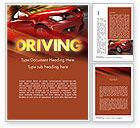 Cars/Transportation: Automotive Design Word Template #11474
