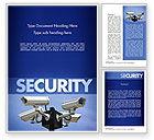 Careers/Industry: Surveillance Cameras Word Template #11478