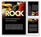 Art & Entertainment: Rock Guitar Word Template #11481