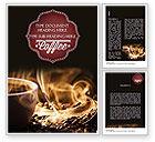 Food & Beverage: Steaming Hot Coffee Cup Word Template #11484