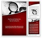 Legal: Modèle Word de recherche sur la fraude financière #11485