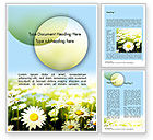 Nature & Environment: Daisy In The Sun Word Template #11489