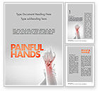 Medical: Painful Hands Word Template #11490