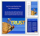 Sports: Climbing Team Word Template #11492