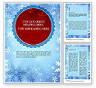 Holiday/Special Occasion: Snowflakes Theme Word Template #11495