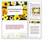 Holiday/Special Occasion: Greeting Card with Flowers Word Template #11502