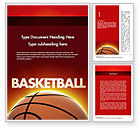Sports: Basketball Planet Word Template #11510