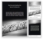 Agriculture and Animals: Flock of Sheep Word Template #11520
