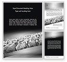 Agriculture and Animals: Modello Word - Gregge di pecore #11520