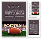 Sports: American Football Op Gras Word Template #11524