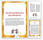 Education & Training: Enchanted Forest Word Template #11528
