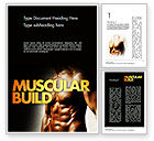 Sports: Muscular Build Word Template #11531