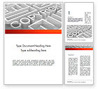 Legal: Intellectual Property Maze Word Template #11532