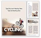 Sports: Biking Up Mountain Word Template #11534
