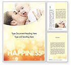 People: Happy Maternity Word Template #11535