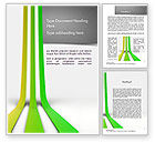 Abstract/Textures: Growing Lines Word Template #11536