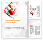 Medical: Red and White Pills Word Template #11539