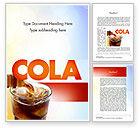 Food & Beverage: Cola Drinks Word Template #11545