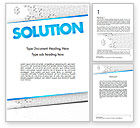 Business Concepts: Puzzle Solution Word Template #11548