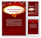 Holiday/Special Occasion: Snowflakes on Red Background Word Template #11549