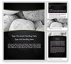 Business: Large White Stones Word Template #11554