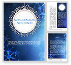 Holiday/Special Occasion: Blue Snowflakes Background Word Template #11558