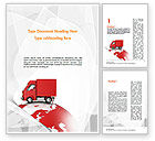 Cars/Transportation: Worldwide Delivery Word Template #11582