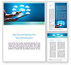 Technology, Science & Computers: Cloud Applications Word Template #11583