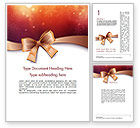 Holiday/Special Occasion: Christmas Bow-knot Word Template #11584
