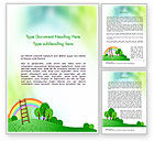 Education & Training: Kindergarten Theme Word Template #11585