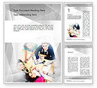 Education & Training: Students at Work Word Template #11592