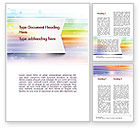 Abstract/Textures: Soft Color Horizontal Lines Word Template #11593