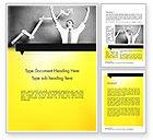 Business Concepts: Winning Businessman Word Template #11594