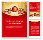 Holiday/Special Occasion: Rot-gold weihnachten thema Word Vorlage #11596
