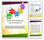 Education & Training: Working Together Team Word Template #11602