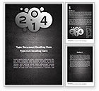 Holiday/Special Occasion: Metal Style 2014 Word Template #11605