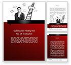 Careers/Industry: Leadership Thinking Word Template #11606