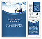 Holiday/Special Occasion: A World of Best Wishes Christmas Word Template #11611