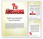Careers/Industry: Red Questions and Answers Word Template #11621
