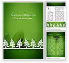 Nature & Environment: Tree Leaves Word Template #11625
