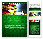 Food & Beverage: Yummy Food Word Template #11642
