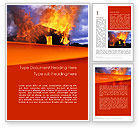 Careers/Industry: Burning House Word Template #11648