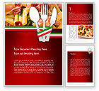 Food & Beverage: Italian Cuisine Word Template #11650