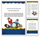 Education & Training: Kids Environment Word Template #11653