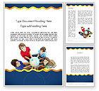 Education & Training: Kids Environment Word Template #11653