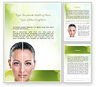 Careers/Industry: Woman Face Before and After Word Template #11659