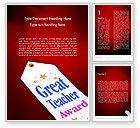 Holiday/Special Occasion: Großer lehrerpreis Word Vorlage #11662