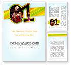 Art & Entertainment: Dancing Girl Word Template #11670