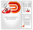 Business Concepts: Red Lock Word Template #11683